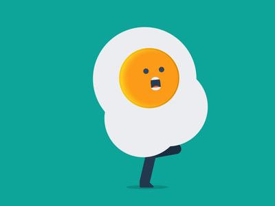 TBT: Runny Egg loop ae flat  design egg run run cycle after effects