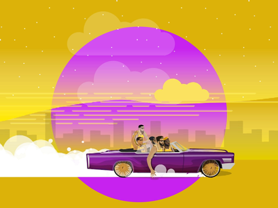 Lakers End Of Season Dribbble design illustration lebron lowrider lakers after effects