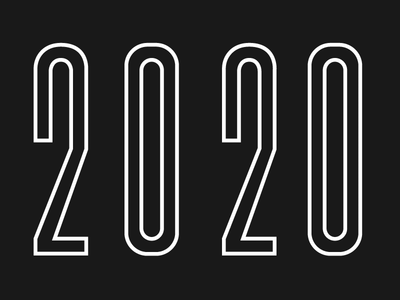 Happy New Year 2020 2020 character illustration design loop after effects