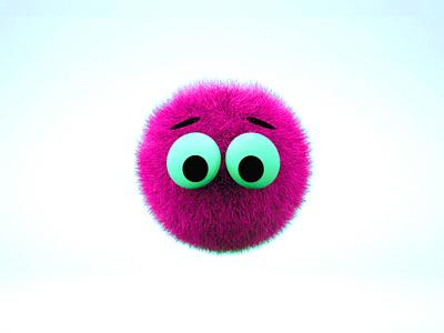 Fluffy gamedev game art app 3d fluffy character