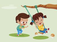 Illustration ramito kids