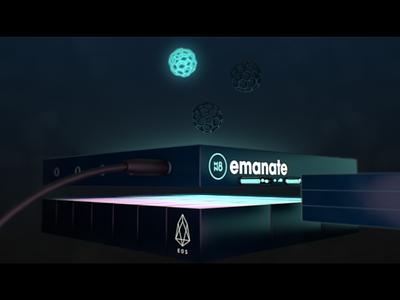 Emanate 3D explainer #1 3d animation cinema 4d abstract modelling explainer blockchain 3d