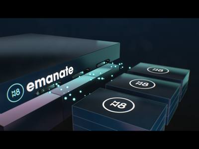 Emanate 3D explainer #2 3d blockchain explainer modelling abstract cinema 4d 3d animation