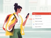 New Todoist Android Widget organization ui app project management character todoist productivity illustration