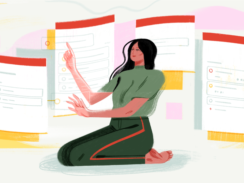 Todoist Boards Illustration kanban board boards kanban task management todo project app organization project management todoist productivity illustration