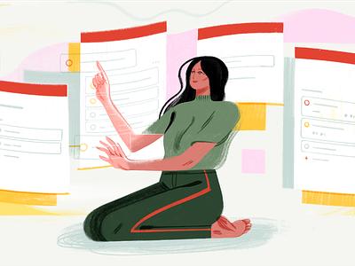 Todoist Boards Illustration kanban board boards kanban task management todo project app organization project management todoist productivity illustration