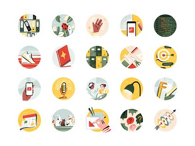 Todoist Templates Illustrations todo project organization app project management todoist productivity illustration