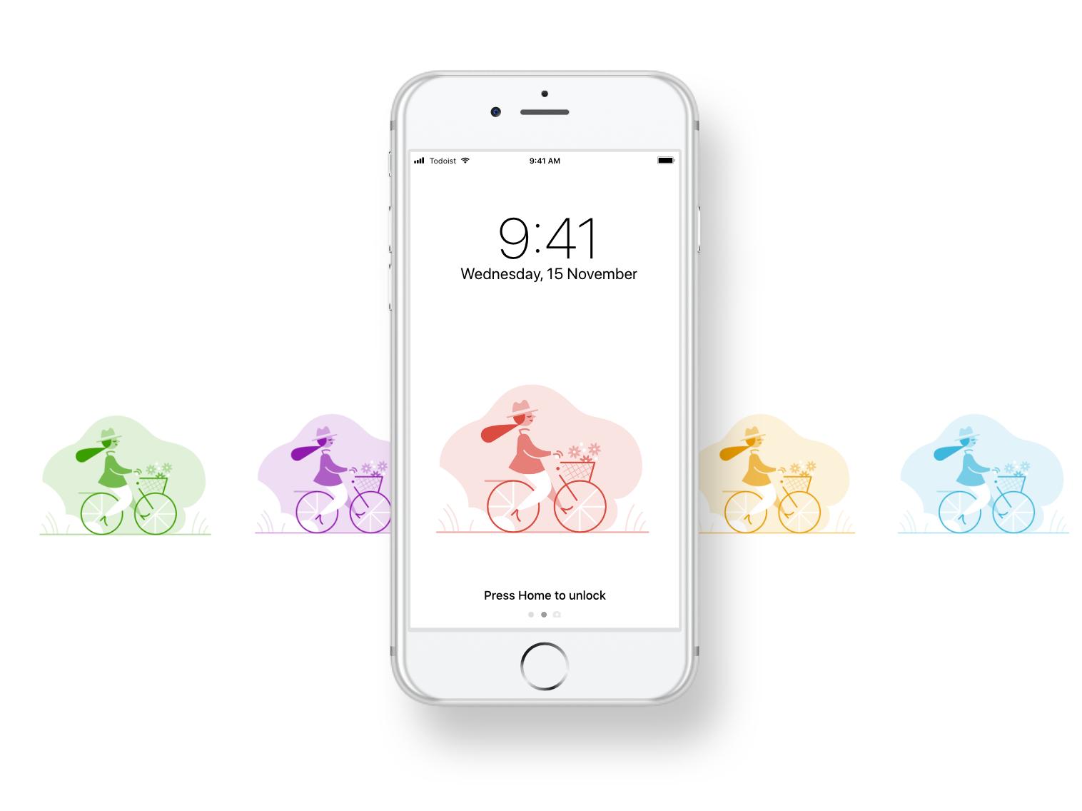 New Todoist Zero Wallpapers iphone desktop ipad android download free theme wallpaper illustration