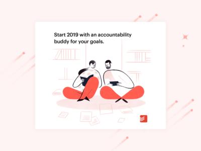 Accountability Buddy illustration todoist goals productivity accountability