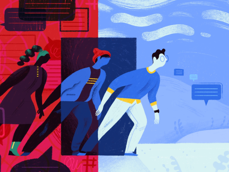 Goodbye, Slack: How to Move Your Team to Twist organization mindfulness chaos real-time chat focus productivity twist slack editorial illustration