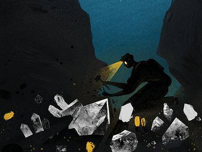 Deep Work procreate work crystals diamonds twist todoist editorial productivity illustration deep work