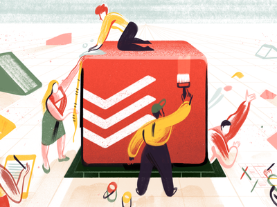 Todoist Foundations – Illustration project real live app illustration todoist task management todo productivity