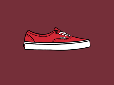 Vans Authentic apple pencil procreate ipad old school red authentic shoes vans