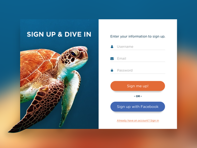 Daily UI #001 - Sign Up Form