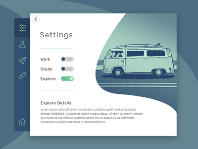 Daily UI #007 - Settings