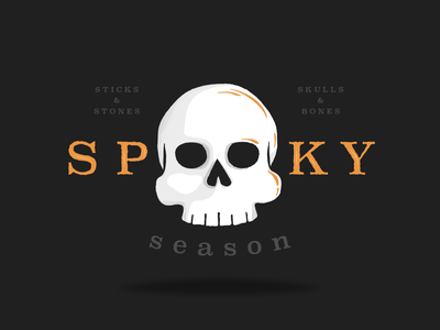 Spooky Season halloween design vector spooky season spooky skeleton skeleton key illustration halloween dribbbleweeklywarmup