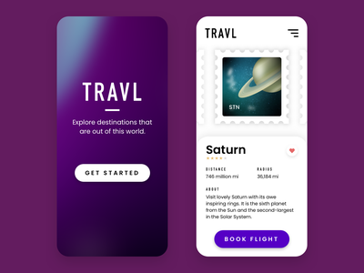Travel App sketchapp sketch gradient challenge illustration ui design daily ui application uiux ui stamp space travel app dribbbleweeklywarmup