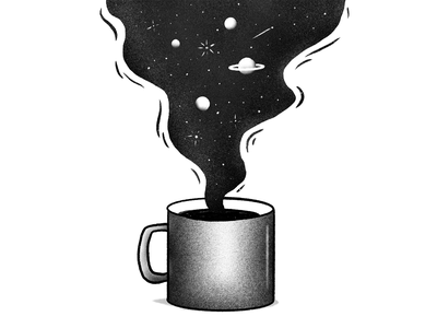 Coffee Exploration ipad procreate explore space coffee design gradient illustration