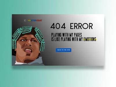 UI Challenge - 404 Page illustration ui