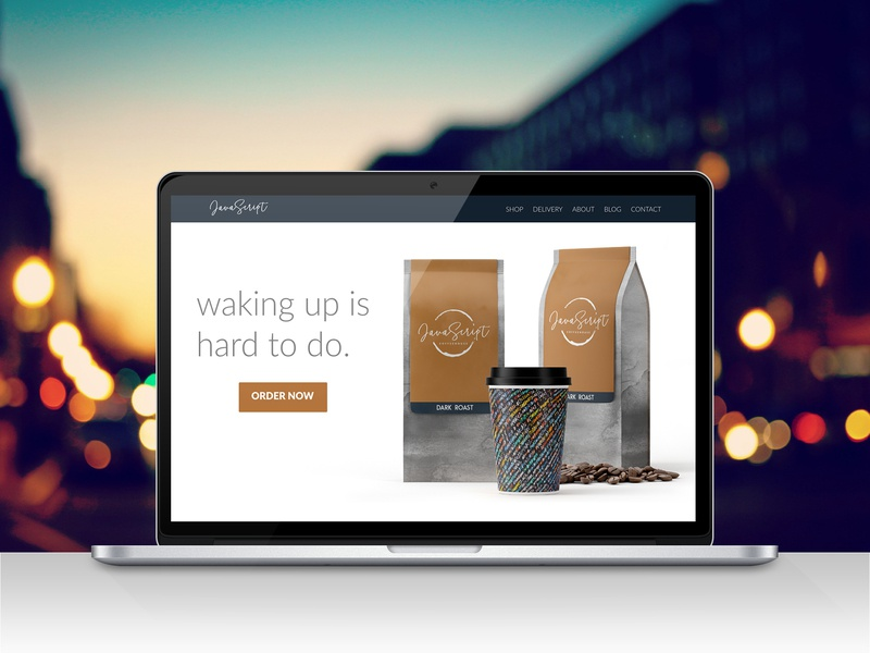 #DailyUI Challenge 003 - Landing Page mock up ui