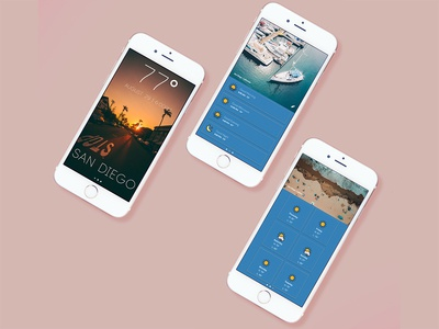 UI Challenge - Weather App app mock up ui