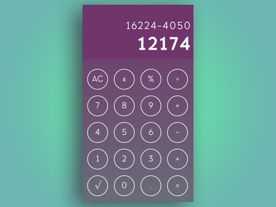 #DailyUI Challenge 004 - Calculator app ui