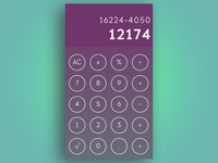 #DailyUI Challenge 004 - Calculator