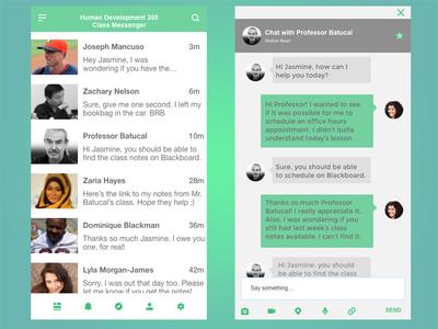UI Challenge - Messaging App message app ios app ui