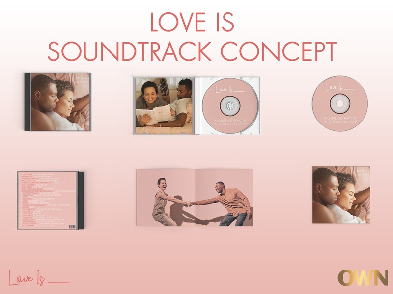 UI Challenge - Album Cover - Love Is Soundtrack cd design concept graphic design