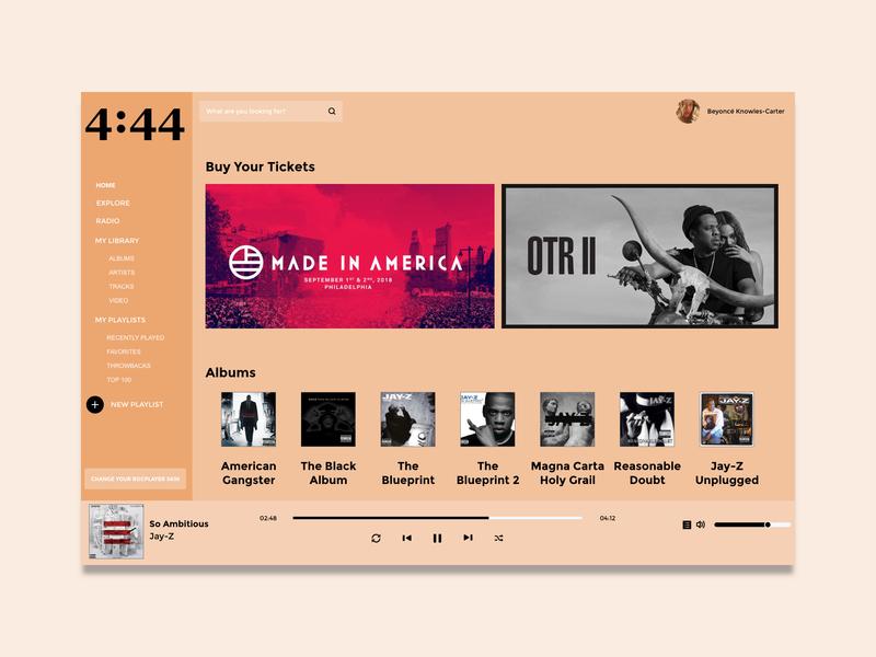 #DailyUI Challenge 009 - Music Player - Concept Design desktop app artist musicapp ui