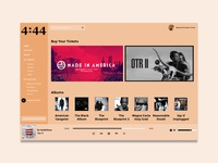 #DailyUI Challenge 009 - Music Player - Concept Design