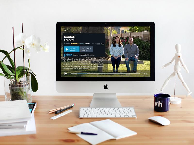 #DailyUI Challenge 057 Video Player video app mockup