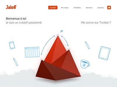 Jaieff portfolio portfolio jaieff flat animation triangular creative design responsive