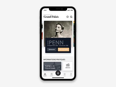 Museum App Concept paris design concept companion slider 3d artist guide audio map animation icon sketch app principle prototype museum art ui  ux