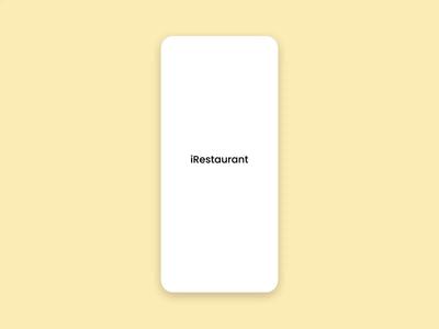 iRestaurant Onboarding Animation online store deliver takeaway safe interaction app food specindia animation restaurant app mobile app flat adobe xd clean  creative minimal design onboarding