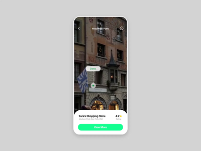 Shopster AR Shopping App pin location experience augmented reality app ui clothes smart directions virtual reality shopping animation branding mobile app specindia adobe xd clean  creative minimal ux ui design