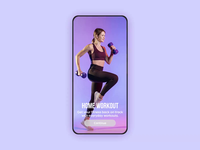Home Workout Application mobile design minimal health ux ui android ios mobile app app exercise fitness workout