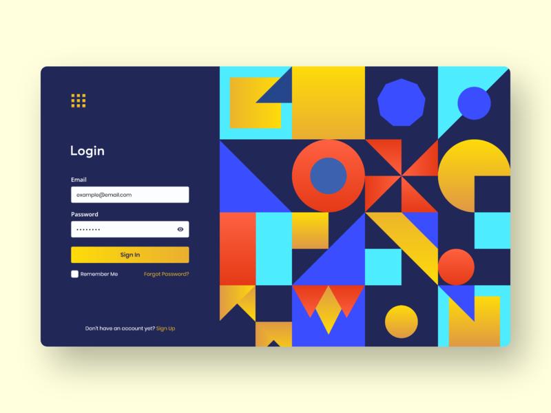 Dashboard Login UI login page web app design minimal flat vector website specindia adobe xd clean  creative design pattern ux ui dashboard login