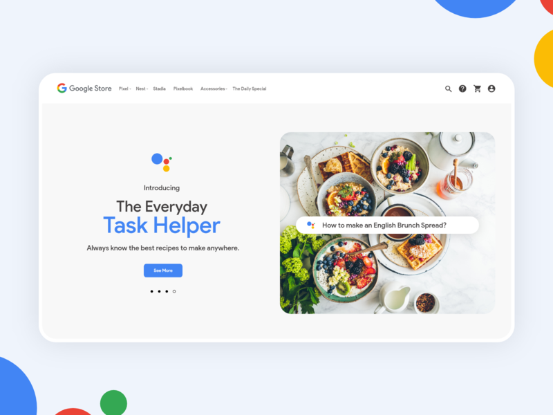 Google Assistant Landing Page voice search web design web page help google assistant landing page website branding adobe xd specindia clean  creative minimal ux ui design