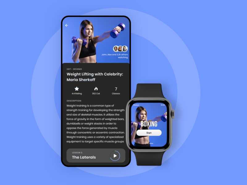 Home Workout Apple Watch Application ios iphone android minimal clean  creative mobile apple watch design watch apple watch health workout tracker specindia ux ui design figma mobile app fitness app workout