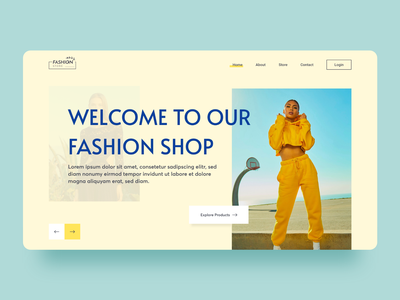 Fashion Store Landing Page Concpet clean  creative website shopping specindia ux ui design web concept banner hero landing page ecommerce online shop fashion