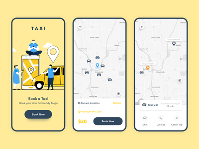Taxi Booking App Concept flat minimal design specindia concept. mobile mobile app app route booking cab taxi creative clean ux ui