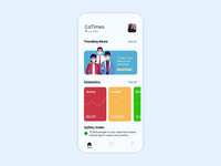 CoTImes Social Distancing Application mask distance chart statistics minimal clean  creative illustration onboarding tracking social covid-19 corona animation mobile app specindia ux ui design