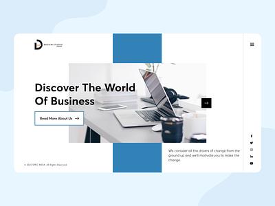 Design Studio Landing Page business white agency website agency company branding landing page website specindia adobe xd clean  creative minimal ux ui design