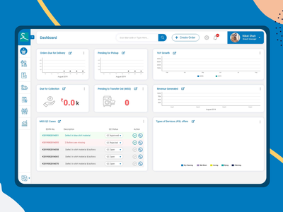 Laundry Management System Dashboard