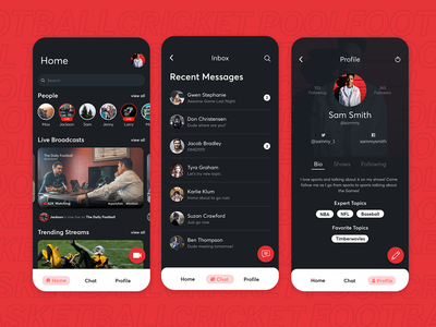 Sports Streaming Mobile App - Exploration