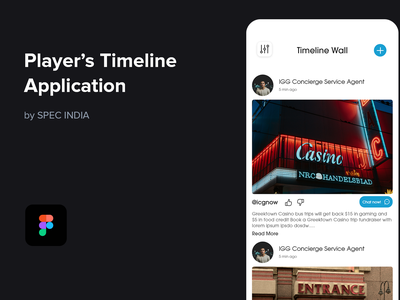 Player's Timeline Application - Full Service Casino App demo clean  creative mobile app concierge app mobile service booking figma minimal casino flat ux ui design timeline modern clean ios