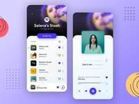 Music Player UI redesign music player song gallery music app app mobile flat ux spotify music user experience minimal ui illustration branding clean  creative design