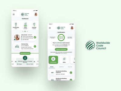 An online learning Mobile App education elearning ux ui design development certificates student courses online learning white clean
