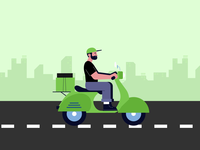 Animation concept for Zomato acquiring Uber Eats India